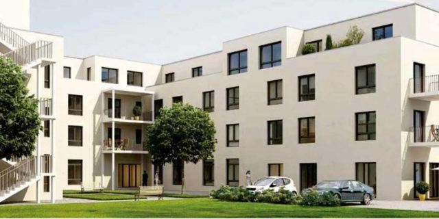 Pflegeimmobilien In München Mit Einzelnen Pflegeappartements. Dies Ist Ein Beispiel Für Eine Seniorenimmobilie