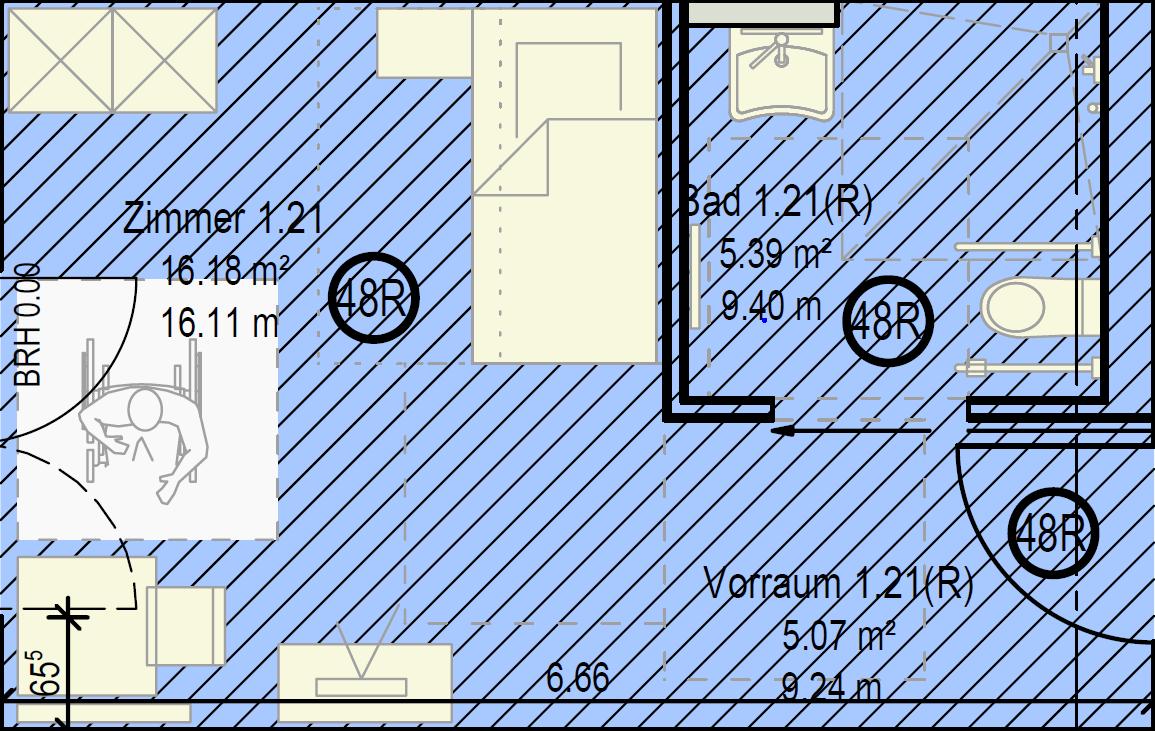 Musterappartement Einzelappartement Pflegeimmobilie Nürnberg-Reichelsdorf